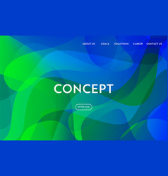 Website template modern flat design web page vector