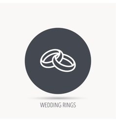 Wedding rings icon Bride and groom jewelery vector image
