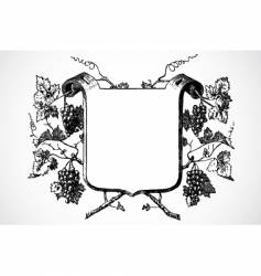 wine frame vector image