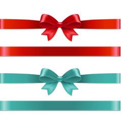 color bows set vector image
