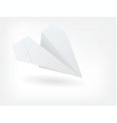 Folded paper plane vector