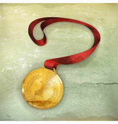 Gold Medal old-style vector image