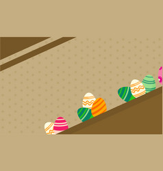 greeting card of easter theme backgrounds vector image