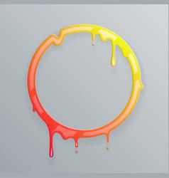 hot colors melting frame 3d flowing art flux vector image vector image