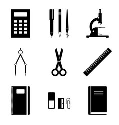 image of school supplies icons which should vector image