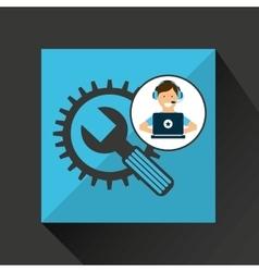 programer character tools development vector image