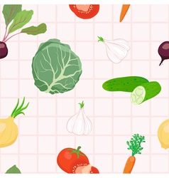 Seamless vegetables pattern vector image vector image