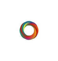 Abstract colored segments circle logo mockup idea vector image vector image
