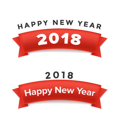 creative happy new year 2018 design vector image