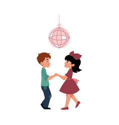 flat boy and girl dancing at party vector image vector image