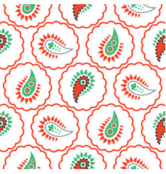 paisley pattern seamless vector image