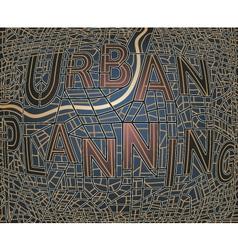 urban plan vector image vector image