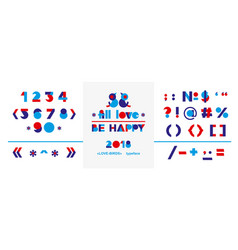 beautiful abstract poster with colorful alphabet vector image vector image