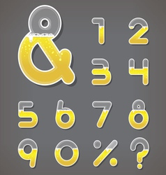 Beer numbers set and ampersand letter vector image vector image
