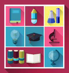 flat icon set vector image