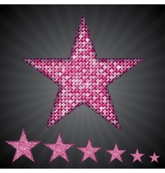 pink sequin stars Eps 10 vector image vector image
