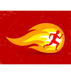 running fire vector image vector image