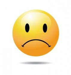 unhappy vector image vector image