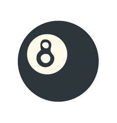 8 ball pool or billiard icon image vector