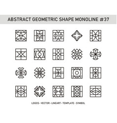 Abstract geometric shape monoline 37 vector
