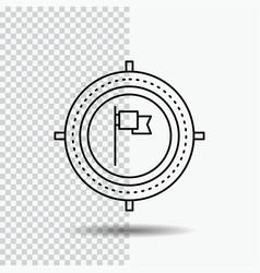 aim business deadline flag focus line icon on vector image