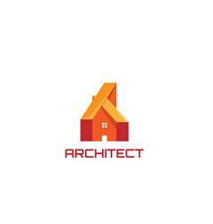 architecture house design logo vector image