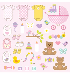 baby girl clipart vector image