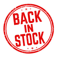 Back in stock sign or stamp vector