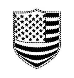 Badge with flag united states of america black vector