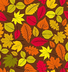 Beautiful leaves seamless pattern natural endless vector image