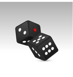 black realistic game dice vector image