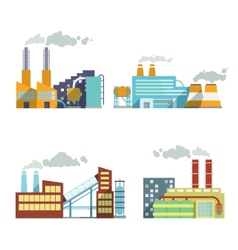 Building industry icons set vector