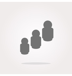 business man silhouette icon web app button vector image
