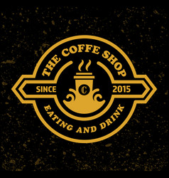 coffee shop logo template retro design style vector image