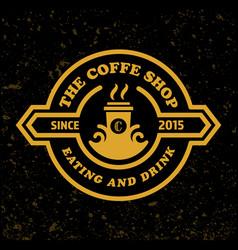 Coffee shop logo template retro design style vector