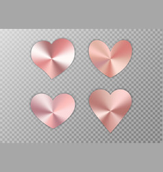Collection of pink hearts vector