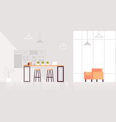 Creative lounge area modern office interior vector