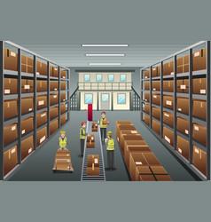 Distribution warehouse vector
