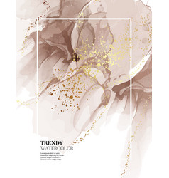 Earth tone grey and gold marble background liquid vector