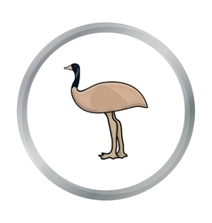 Emu icon in cartoon style isolated on white vector