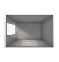 example of empty dark room with window vector image