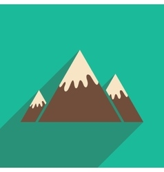 flat icon with long shadow Canadian mountain vector image
