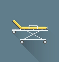 flat medical stretcher on wheels icon vector image