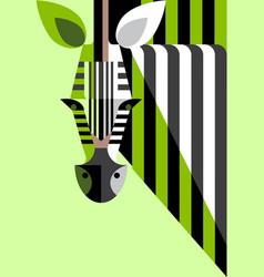 flat portrait zebra vector image