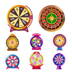fortune wheel gambling items casino roulette wheel vector image