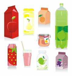 fruit containers vector image