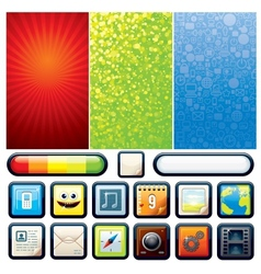 Funky Phone Set Graphics vector