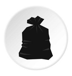 garbage bag icon circle vector image