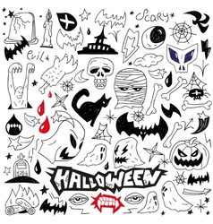Halloween monsters - doodles vector