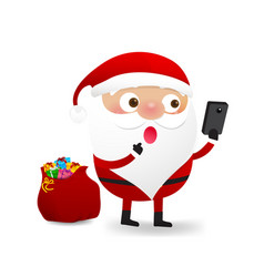 happy christmas character santa claus cartoon 002 vector image